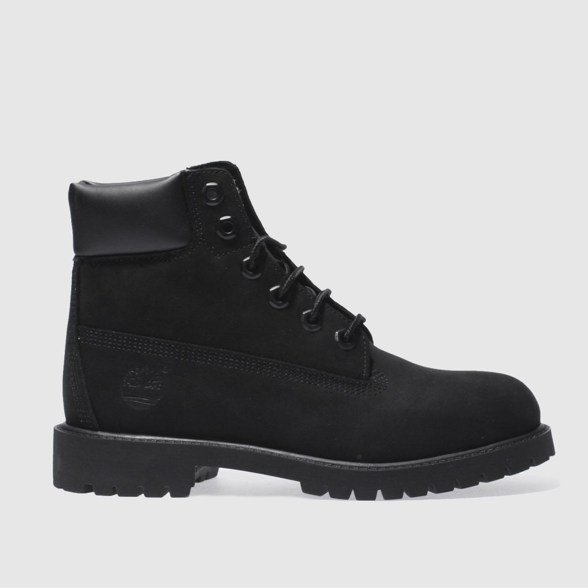 Timberland Black 6 Inch Premium Boots Youth