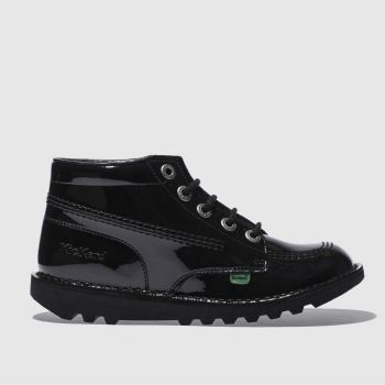 Kickers Black Kick Hi Unisex Youth#