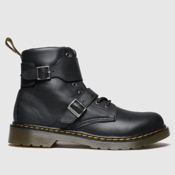 Dr Martens Black Joska Unisex Youth