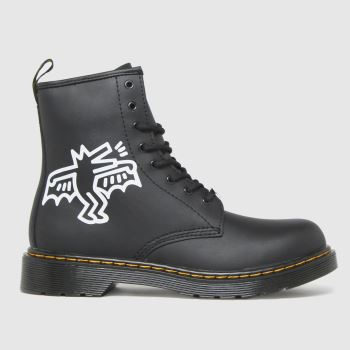 Dr Martens Black & White 1460 Keith Haring Unisex Youth