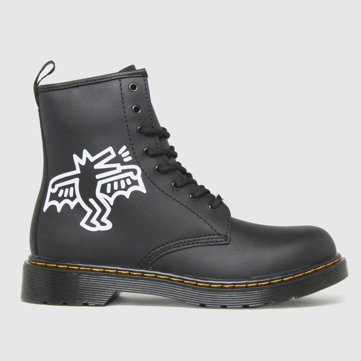 Dr Martens Black & White 1460 Keith Haring Boots Youth