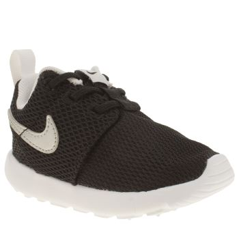 NIKE BLACK & SILVER ROSHE ONE BOYS TODDLER TRAINERS