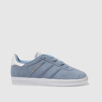 ADIDAS PALE BLUE GAZELLE TRAINERS TODDLER