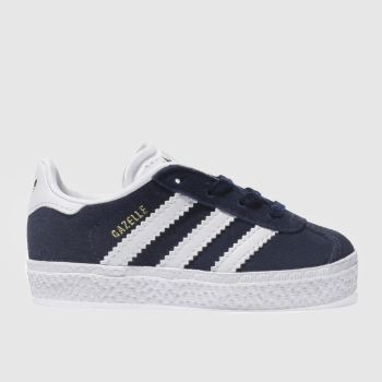 Adidas Navy & White GAZELLE Unisex Toddler