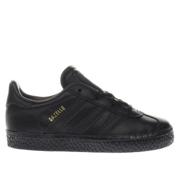 ADIDAS BLACK GAZELLE TRAINERS TODDLER