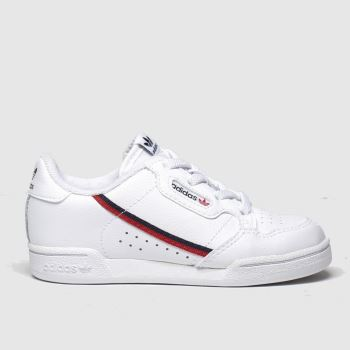 Adidas White & Red Continental 80 Unisex Toddler#