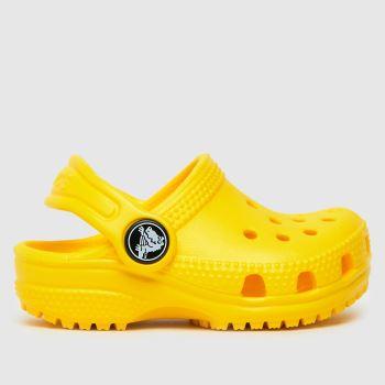 crocs Yellow Classic Clog Unisex Toddler