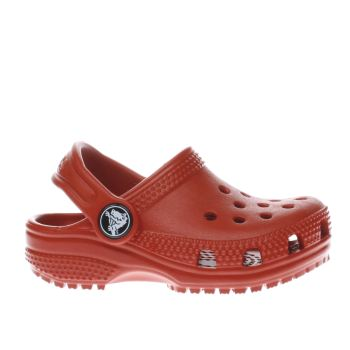 4e17106fd Kids Unisex red crocs classic clog trainers
