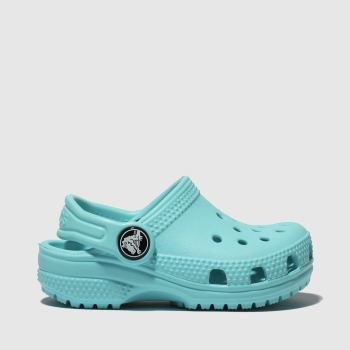 CROCS TURQUOISE CLASSIC CLOG SANDALS TODDLER
