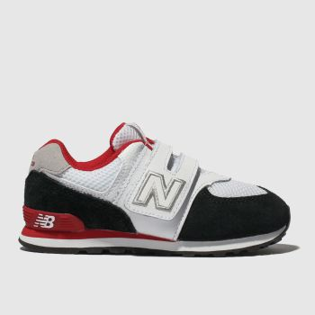 New Balance White & Black 574 Unisex Toddler