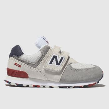 new balance light grey 574 trainers toddler