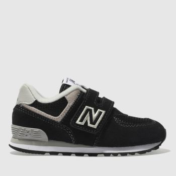 NEW BALANCE BLACK 574 TRAINERS TODDLER