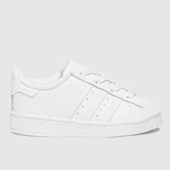 adidas White Superstar El Unisex Toddler