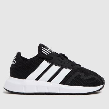 adidas Black & White Swift Run X Unisex Toddler