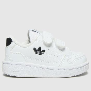 adidas White & Black Ny90 2v Unisex Toddler#
