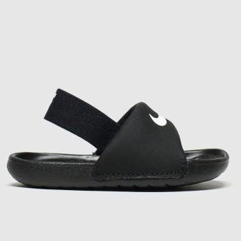 Nike Black & White Kawa Slide Unisex Toddler#