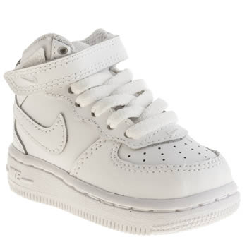 NIKE WHITE AIR FORCE 1 BOYS TODDLER TRAINERS