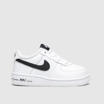 Nike White & Black Air Force 1 c2namevalue::Unisex Toddler