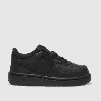 Nike Black Air Force 1 Unisex Toddler#