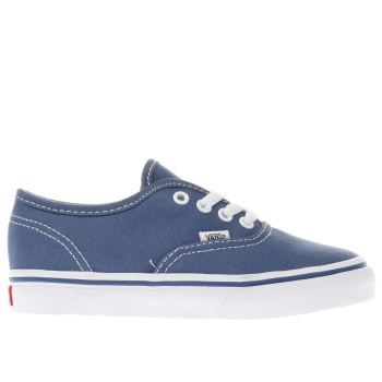 9da7fd0eb3 Kids Unisex navy vans authentic trainers