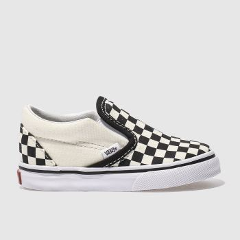 Vans black & cream classic slip-on trainers toddler
