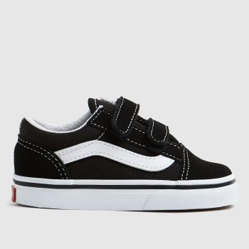 Vans Black   White Old Skool Unisex Toddler 3348fc8a3b