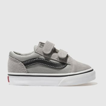 Vans Grey & Black OLD SKOOL V Unisex Toddler