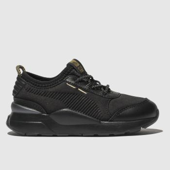 PUMA Black & Gold Rs-0 Trophy Unisex Toddler