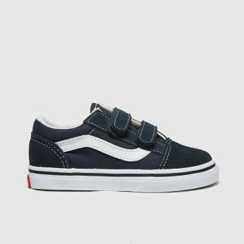 Vans Navy Old Skool V Unisex Toddler#