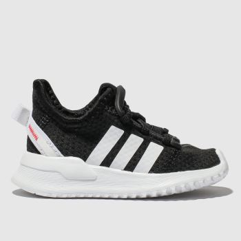 adidas black & white u_path run trainers toddler
