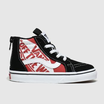 Vans Black & Red Sk8-hi Zip Unisex Toddler