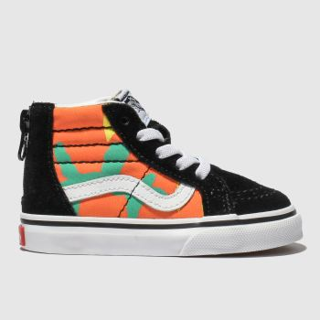 20b4a8538d Vans Black   Orange Sk8-Hi Zip Pop Camo Unisex Toddler