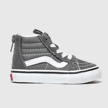 Vans Grey Sk8-hi Zip Unisex Toddler