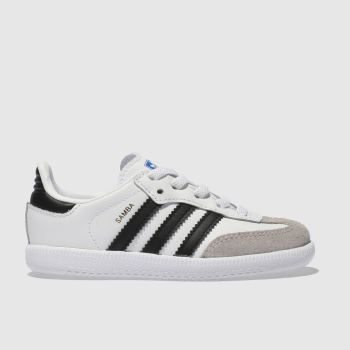 Adidas White & Black SAMBA OG EL Unisex Toddler