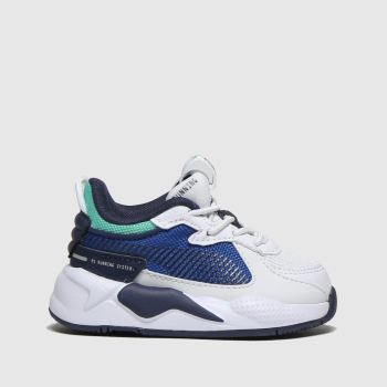 Puma White & Navy Rs-x Hard Drive Unisex Toddler