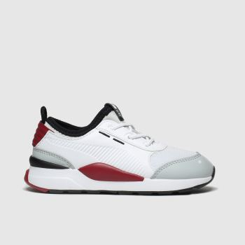 Puma White & Red Rs-0 Smart Unisex Toddler