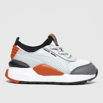 Puma White & grey Rs-0 Smart Unisex Toddler