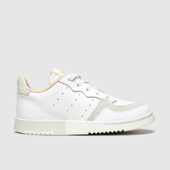 Adidas White & Beige Supercourt Unisex Toddler
