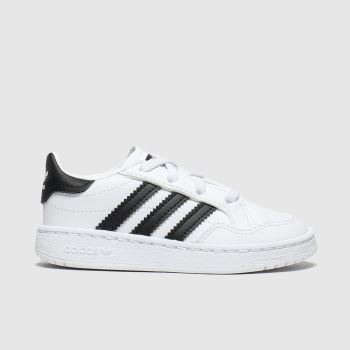 Adidas White & Black Team Court El c2namevalue::Unisex Toddler