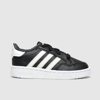 Adidas Black & White Team Court El c2namevalue::Unisex Toddler