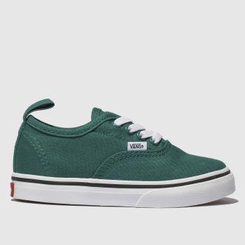 Vans Dark Green Authentic Elastic Lace c2namevalue::Unisex Toddler