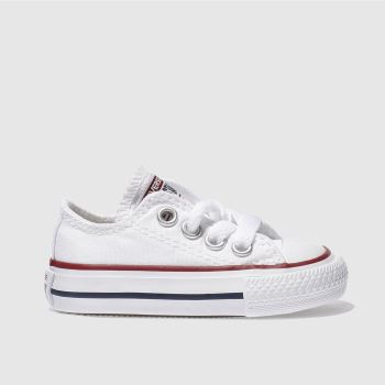 on sale 8f68c 5c42c Converse White All Star Lo Unisex Toddler