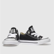 35b2bbf4ecda89 Kids Unisex black converse all star lo trainers
