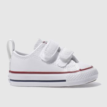 Converse White & Red All Star 2v Unisex Toddler