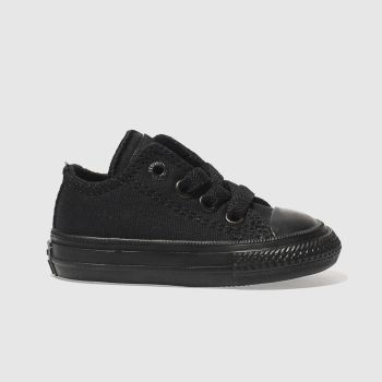 CONVERSE BLACK CHUCK TAYLOR II OX TRAINERS TODDLER