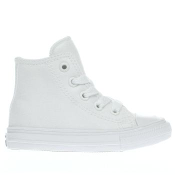 CONVERSE WHITE CHUCK TAYLOR II HI TODDLER TRAINERS