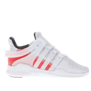 ADIDAS WHITE EQT SUPPORT ADV TODDLER TRAINERS