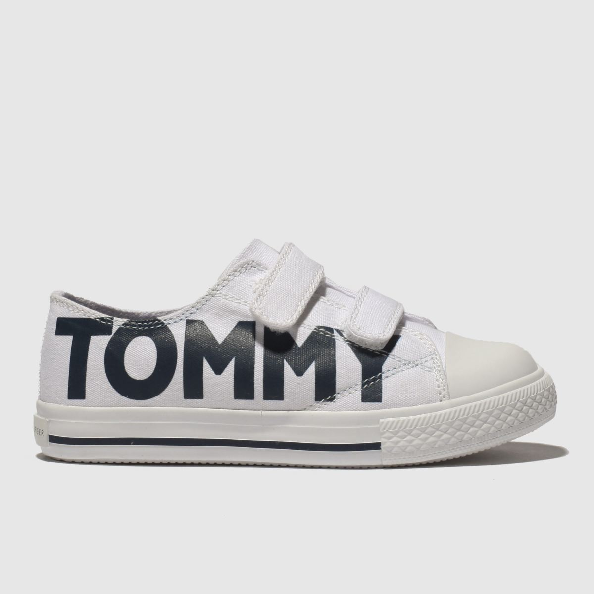 Tommy Hilfiger White & Navy Velcro Sneaker Trainers Toddler