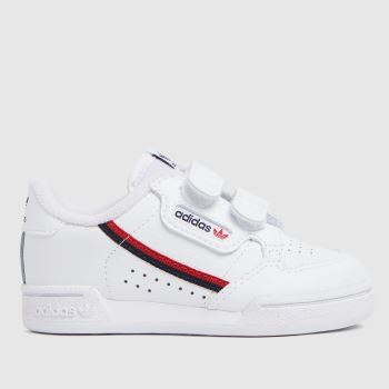 adidas White & Red Continental 80 2v Unisex Toddler