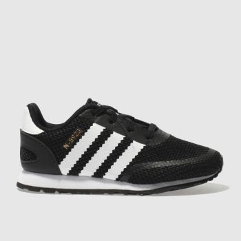 ADIDAS BLACK & WHITE N-5923 TRAINERS TODDLER